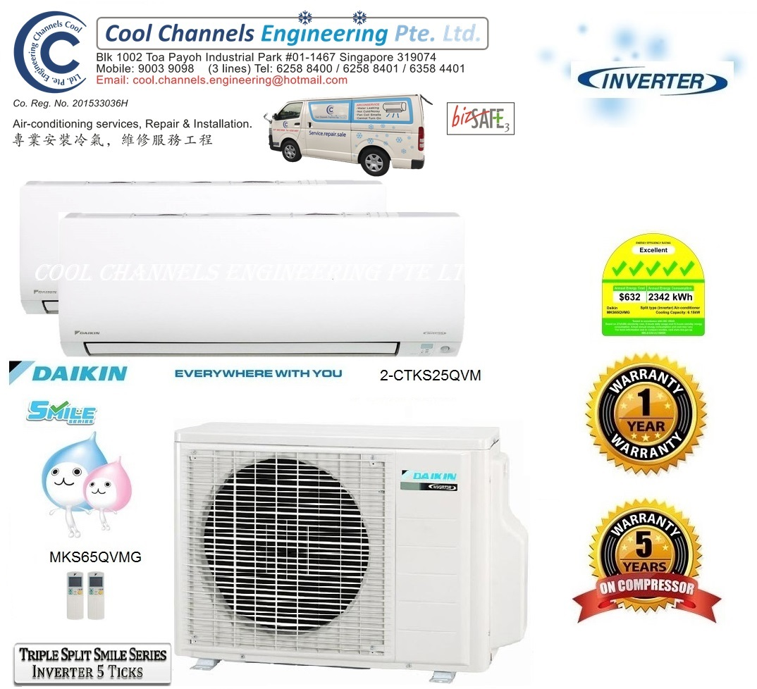 Daikin Triple Split Smile Series Inverter System 2