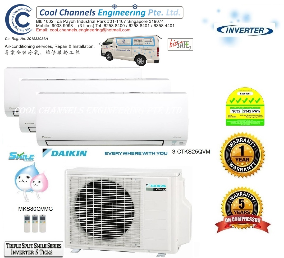 Daikin Triple Split Smile Series Inverter System 3