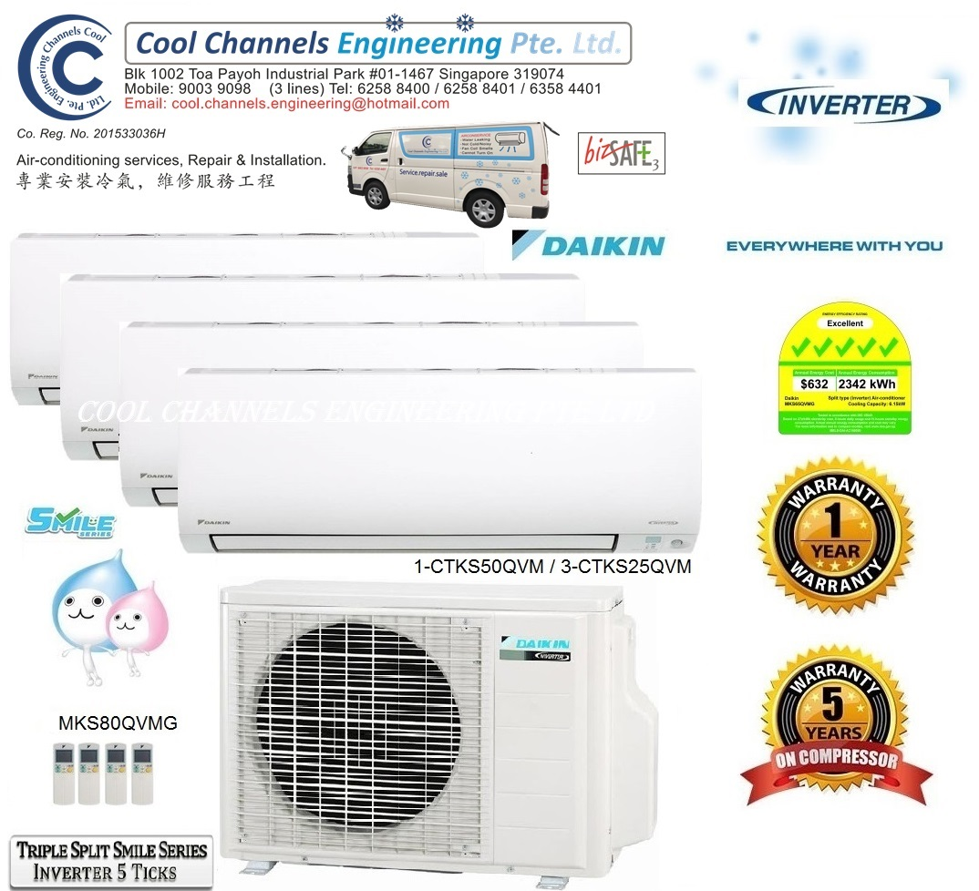 Daikin Triple Split Smile Series Inverter System 4